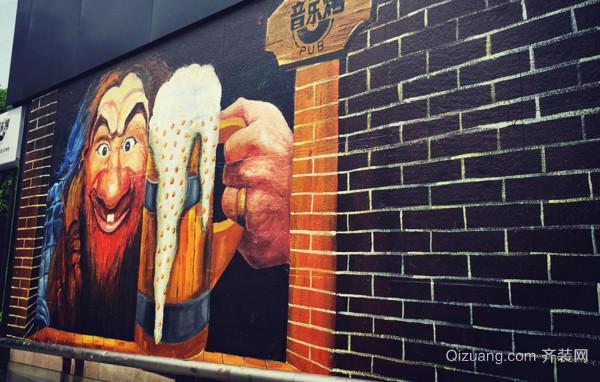 酒吧墙绘素材