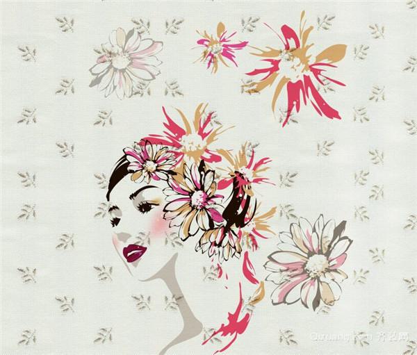 墙纸图案丰富,时尚感强,而相比之下,乳胶漆颜色单一,以浅色居多,即使