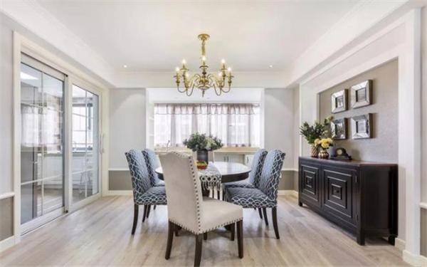 143㎡美式装修,逆天玄关和客厅设计!