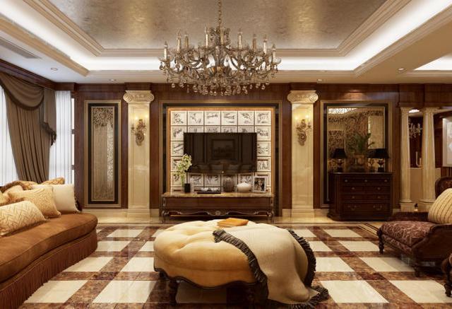240㎡法式風格客廳裝修設計