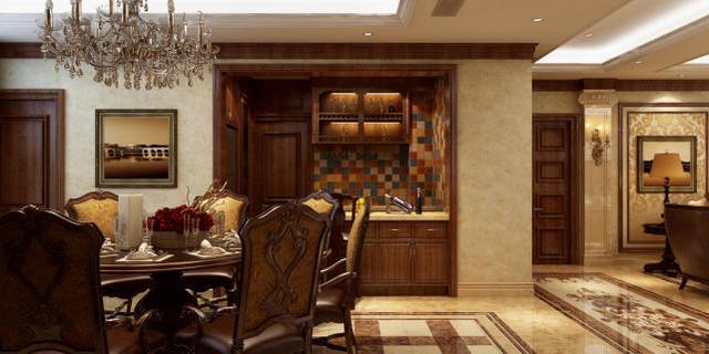 240㎡法式風格餐廳裝修設計