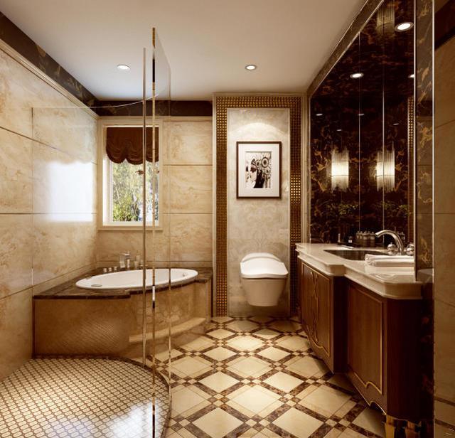 240㎡法式風格衛浴裝修設計