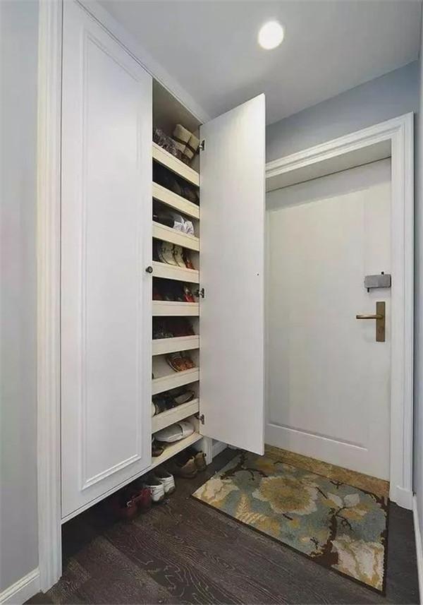 120㎡美式三居,入户通顶鞋柜巨能装!