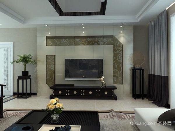 现代简约风格电视墙设计