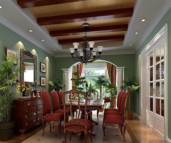 家庭装修餐厅颜色搭配说明