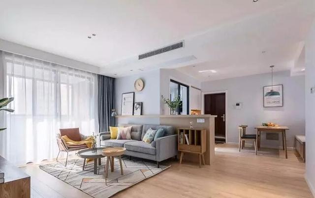 98㎡北欧风三居室客厅装修