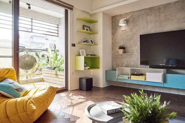 现代简约风格三居室客厅装饰