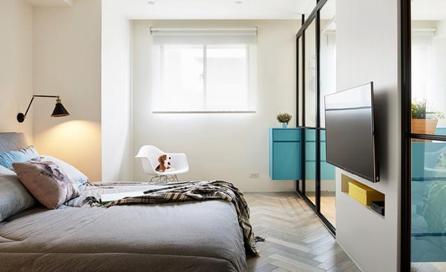 现代简约风格三居室卧室装修