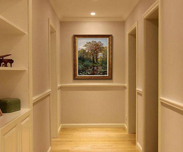 大门正对走廊尽头挂画风水禁忌图片