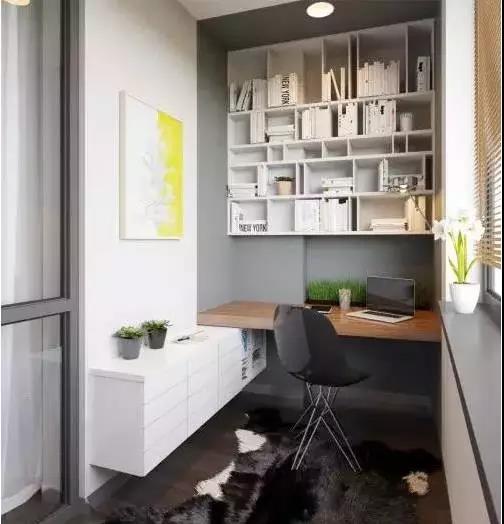 阳台书房改造设计效果图 阳台能做书房吗