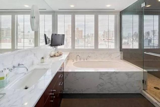 夹江装修分享大理石浴室装修效果图