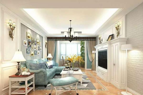 130㎡地中海风格客厅装修设计
