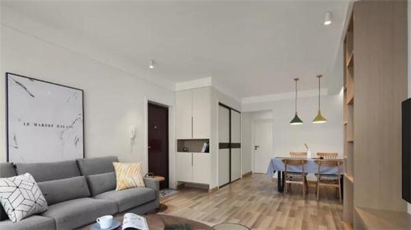 衡阳100平两室简约风装修案例 大白墙也能很时尚