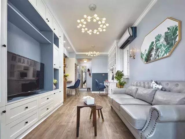 72㎡北欧风格客厅装修设计