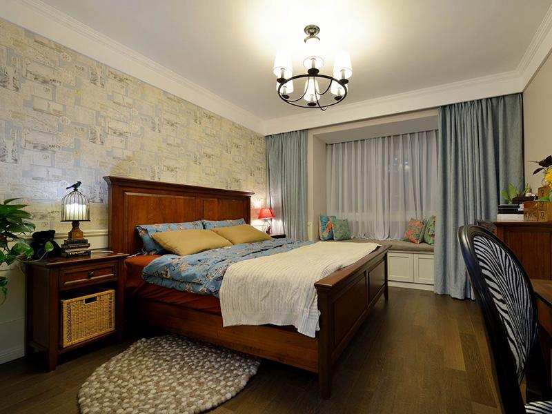 鹤壁90平家庭装修美式实景图 卫生间也可以很小清新