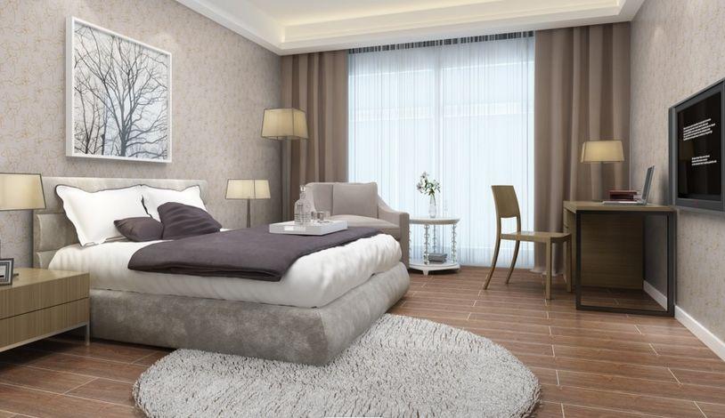 卧室的墙面贴瓷砖