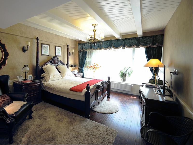 卧室简约美式效果实景图