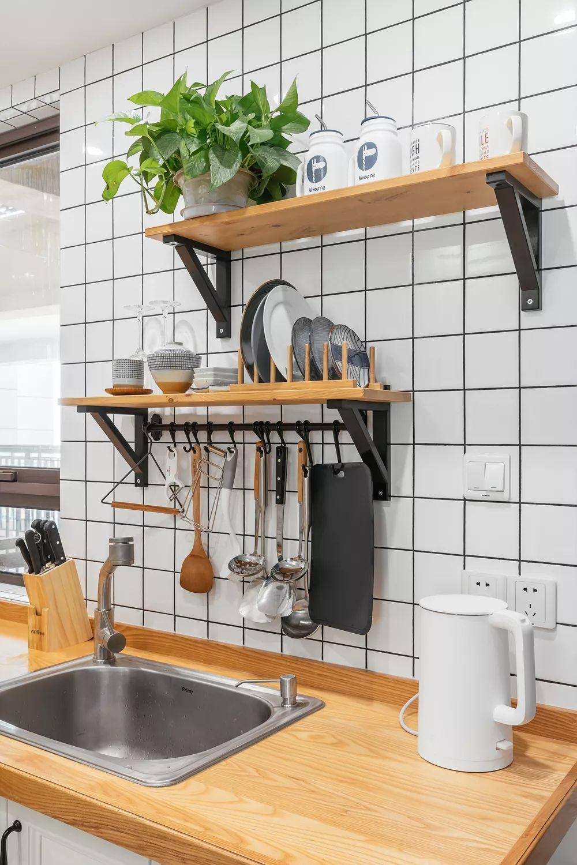 88㎡北欧风格厨房收纳