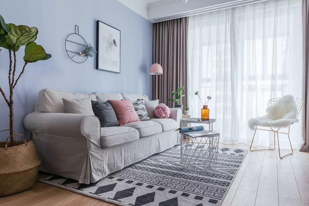 88㎡北欧风格客厅装修设计