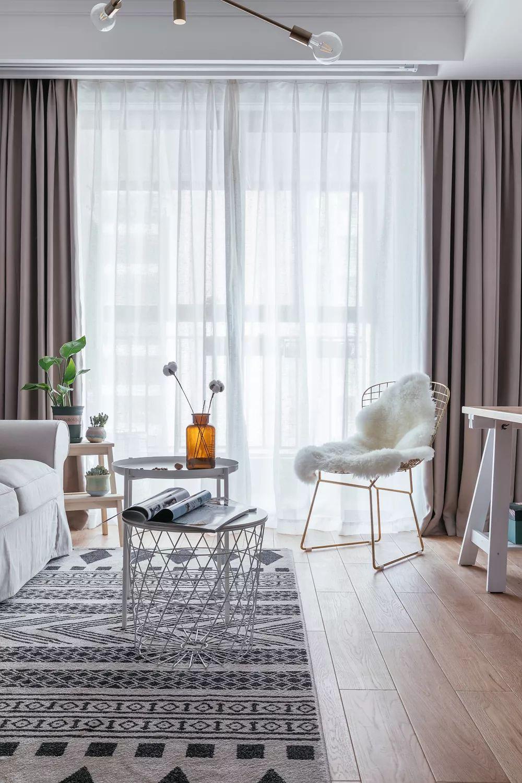 88㎡北欧风格客厅装饰设计