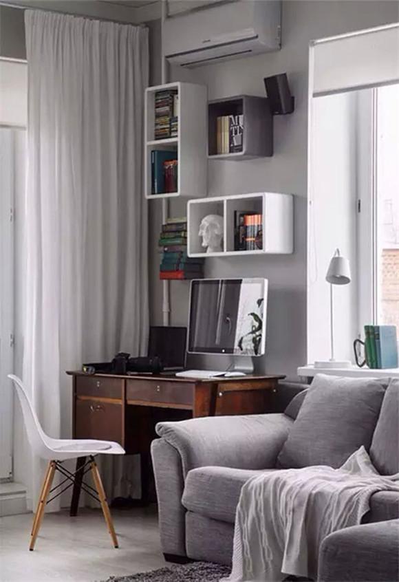 浅灰色为主色的房间