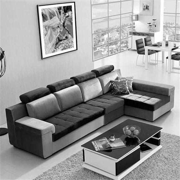丰富又简单的沙发区