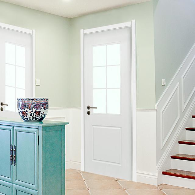 现代简约白色室内门