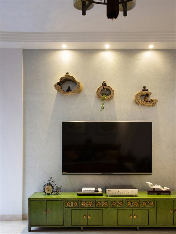 124㎡现代中式客厅装饰设计