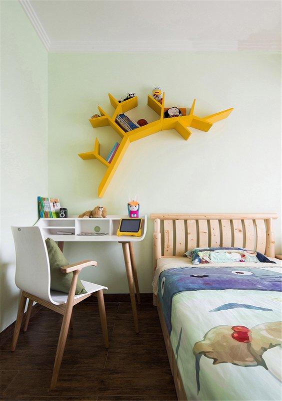 124㎡现代中式次卧装修设计