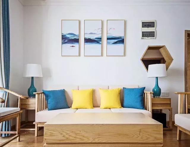 130㎡新中式风格背景墙装饰