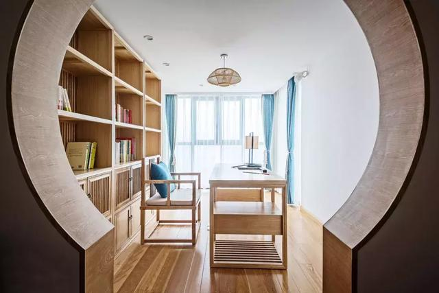 130㎡新中式风格书房装修设计