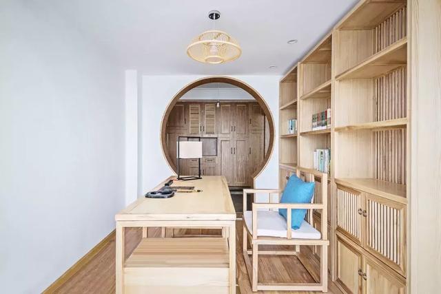 130㎡新中式风格书房家具设计