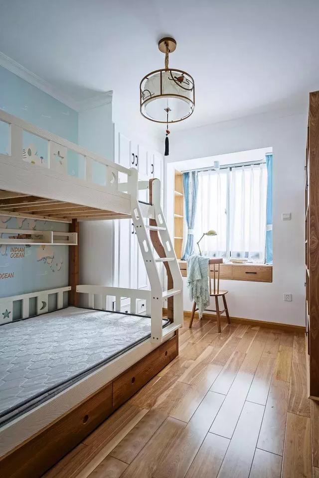 130㎡新中式风格儿童房装修设计