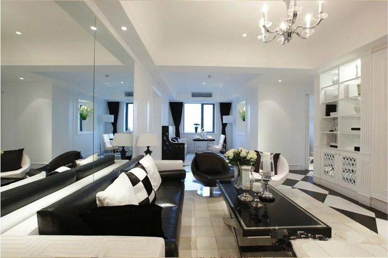 96平两居室新房装修案例  现代简约风格全包7W