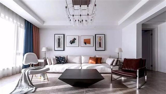 邵阳119平米现代简约风格装修案例,时尚暖灰色营造简洁舒适空间
