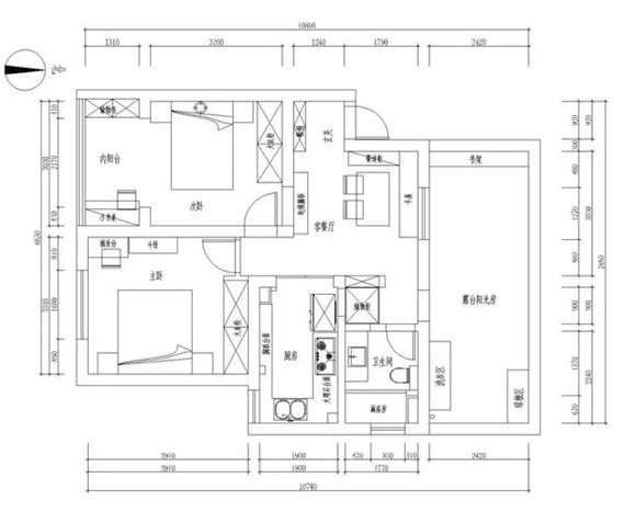 汕尾八万搞定72平米小户型装修案例,宜家风 花钱少 还舒适