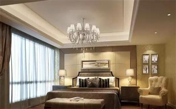 2018欧式新房卧室吊顶装修效果图,感受全美的新家