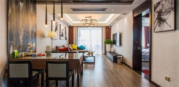 太仓100平米三居室精装修 半包5万打造现代简约风