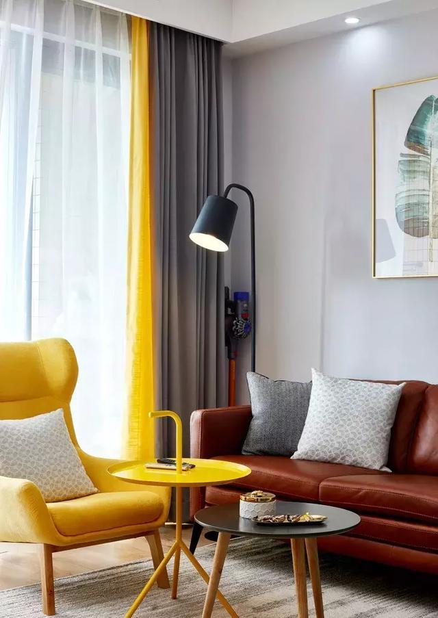 95㎡北欧风格客厅装修设计