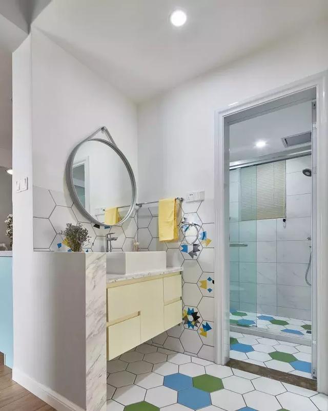 95㎡北欧风格卫浴装修设计