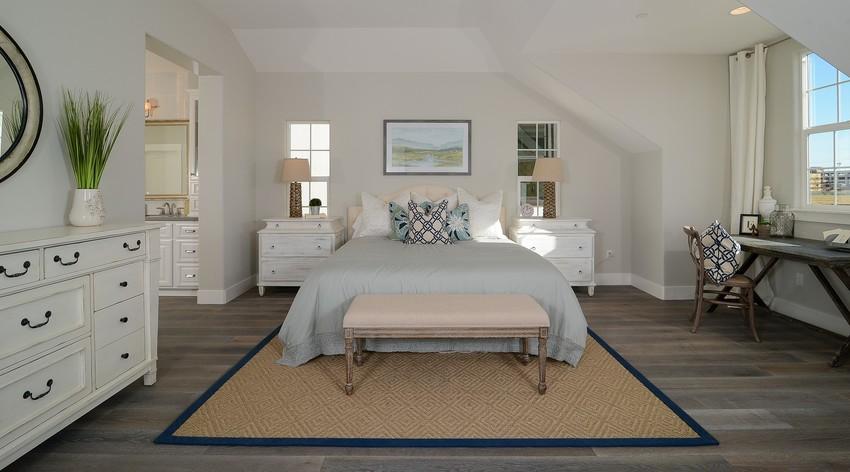 临沭140㎡三居室装修案例  清新淡雅美式风