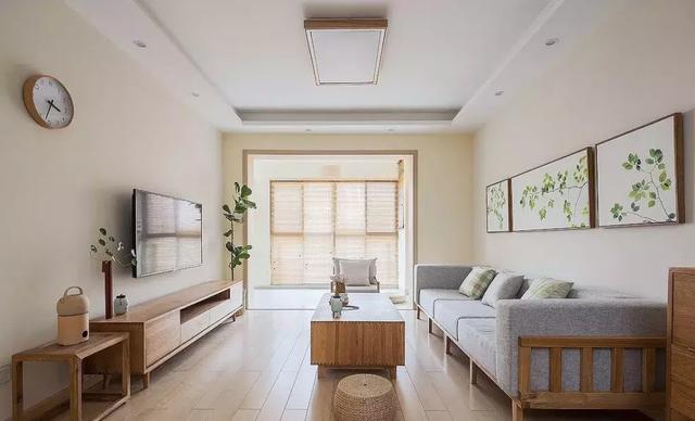 101㎡原木风格客厅装修设计
