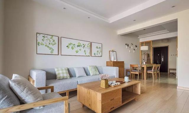 101㎡原木风格客厅设计
