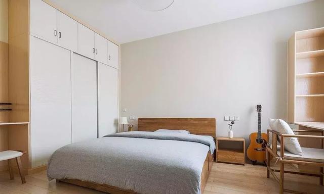 101㎡原木风格卧室装修设计