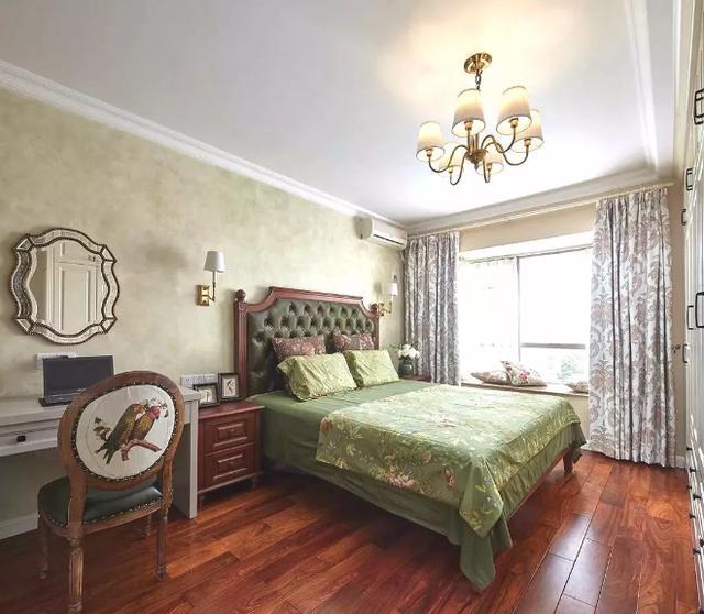 105㎡美式田园卧室装修设计