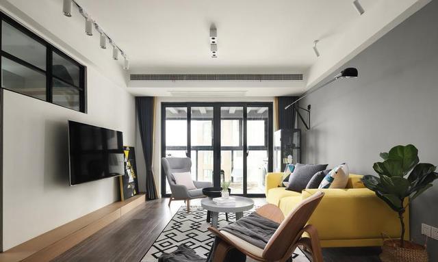 119㎡北欧风格客厅装修设计
