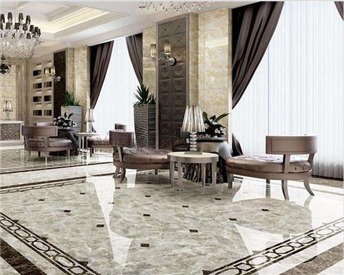 青岛客厅瓷砖装修效果图1