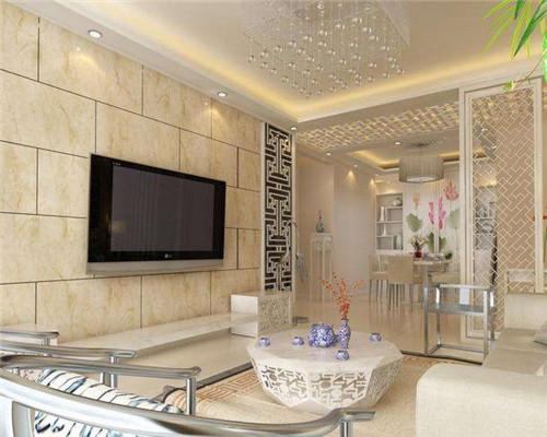 青岛客厅瓷砖装修效果图5