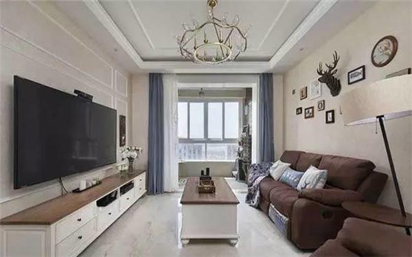 75平米小户型美式风格装修案例 高贵典雅