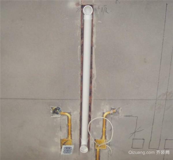 灯光的改造,再就是卫生间里的电热水器的明管改暗管的水路及电路线路